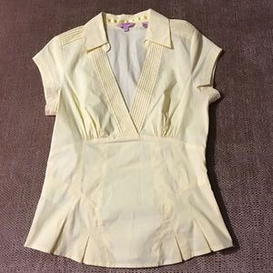 TED BAKER Fitted Blouse Size 1
